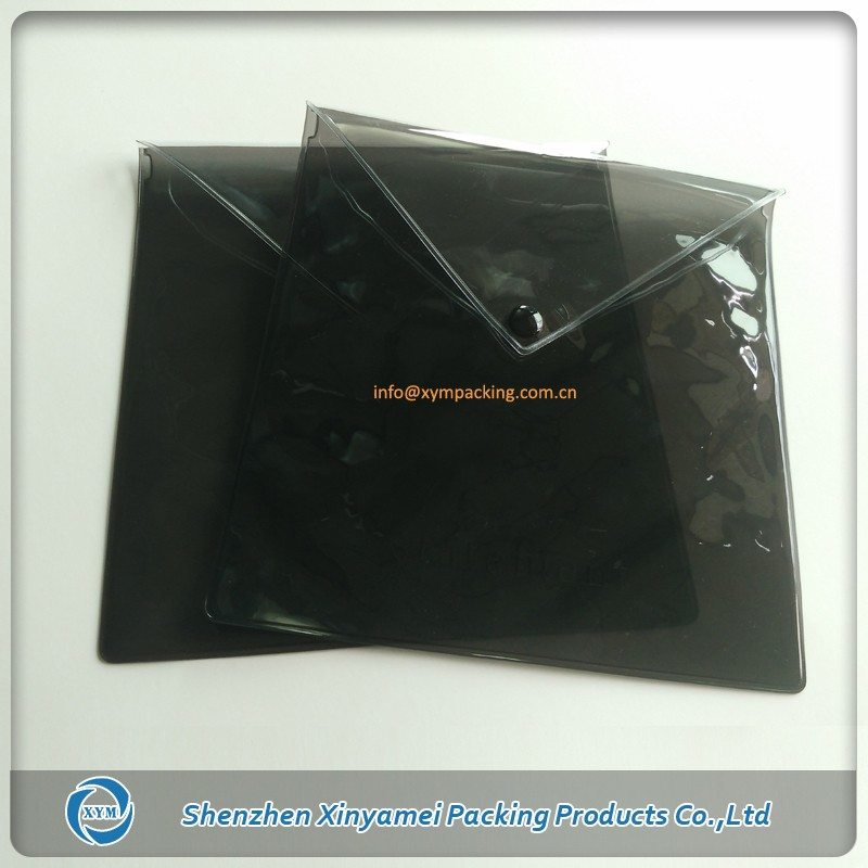 pvc made promitional gift clear transparent clutch purse bag coins packaging