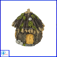 Miniature Enchanted Cottage Gnome Hobbit Fairy ,Shabby Fairy House