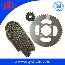Model XTZ125 48-428H for Brazil Market Motorcycle Parts Chain Sprocket Kit