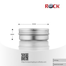 Small round aluminium tin can