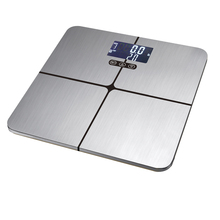 Highlight blue LCD display body fat scale smart scale with BIA technology stainless steel