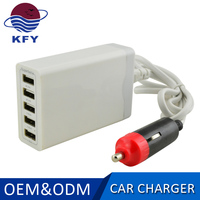 colorful multiple mobile phone 5 usb electric car battery charger