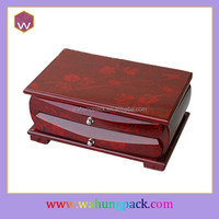 Stylish Luxury Wedding Wooden Gift Box For Jewelry With Custom Music
