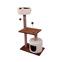 Pet Toys Type and Eco-Friendly Feature Plush Cat Toy Stock Simple Cat Tree