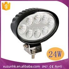 24w 24 hour blue point led work light with flood beam
