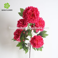 Peony silk flower bouquet for wedding decoration artificial flower real touch peony bouquet peony flower imported from China