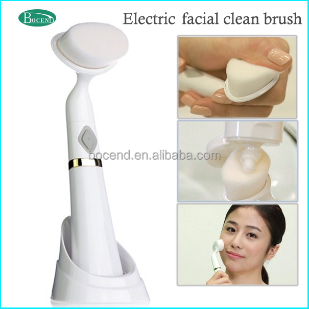 vibrating massage brush/Soft electric face massager facial clean brush