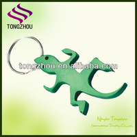 animal shaped bottle opener keychain