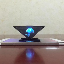 2018 new models 3D Hologram Display Smartphone 3D holographic projector,Mini Pyramid Hologram