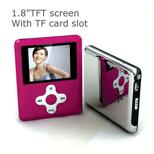 1.8 inch TFT screen 3rd generation mp4 with TF card slot