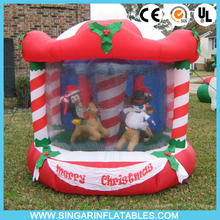 Christmas Carousel Airblown Rotating Inflatable backyard carousel
