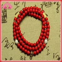 8mm 108 Wood Beads Buddhist Prayer Meditation Wrist Mala Necklace (QXNK150305)