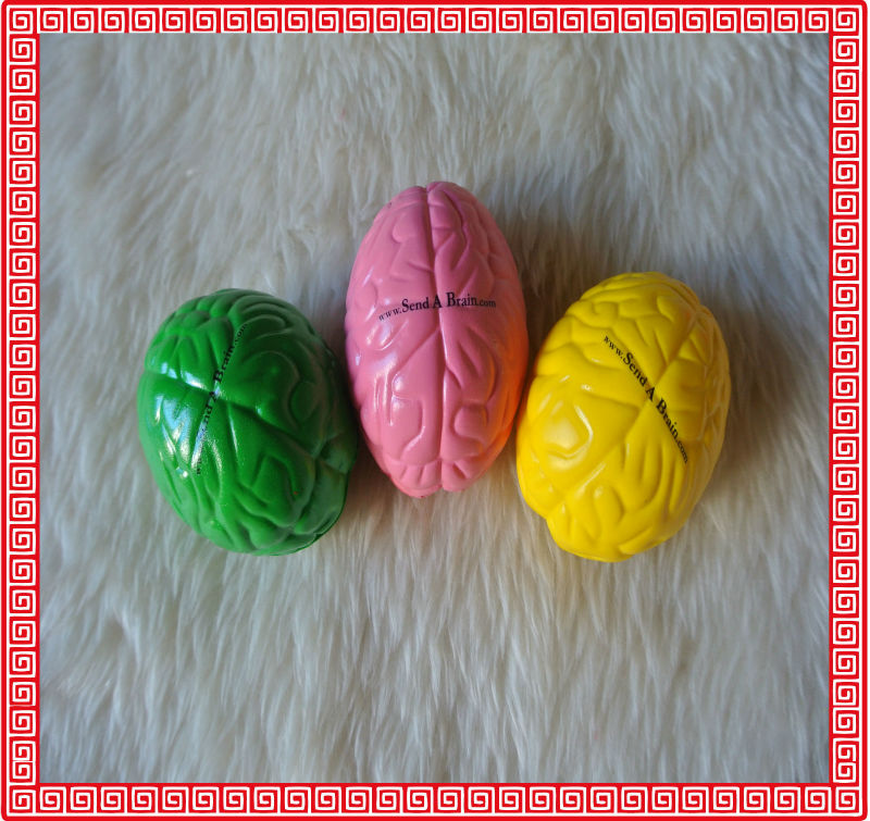 promotional PU brain stress ball customized