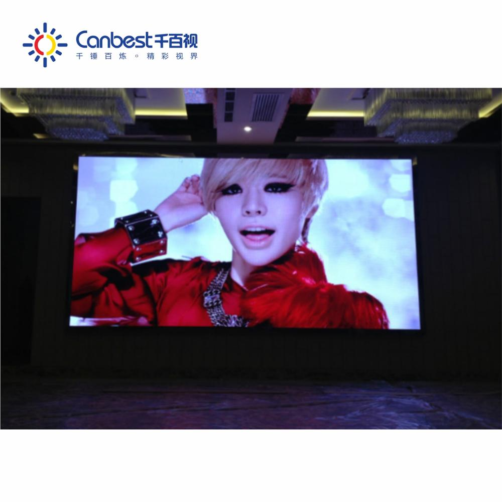 High quality indoor p4 hd super thin led screen Blue Film Video / hd Pitch 1.9mm 2.5mm Smd Led Video Wall