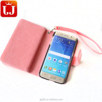 Flip Stand Leather Phone Case for Samsung S6 with many card slots