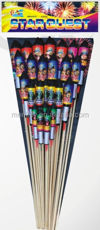 Wholesale factory price effects OEM handmade fireworks rockets Star Quest fountain for sale