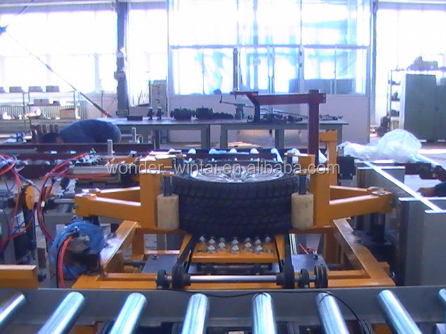Chinese automatic tube/tubeless tire assembly machine tire assembly line