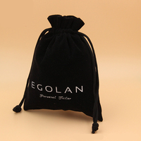 Custom Promotional Drawstring Jewelry Velvet Pouches