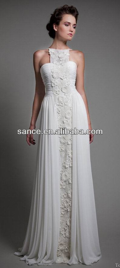 latest wedding gown designs lace chiffon wedding dresses 2014