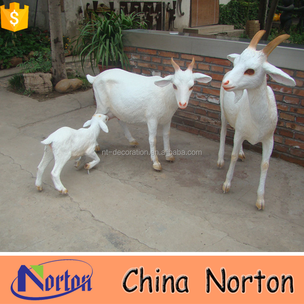 high quality garden life size resin goat statues NTRS395S