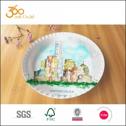 customized designs melamine serving tray plastic tea tray
