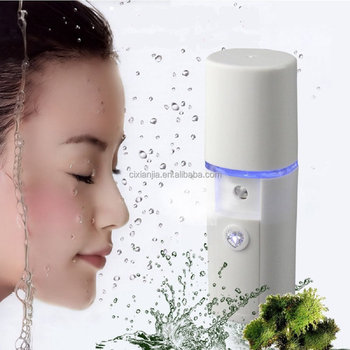 USB Rechargeable Nano Facial Mister Handy Face Sprayer Steamer Beauty Device Machine Eyelash Extension White