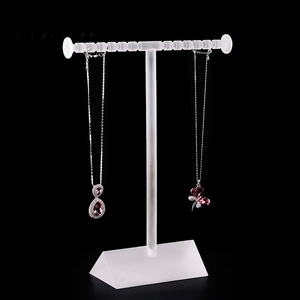 high quality acrylic T shape jewelry display holder,necklace/bracelets display stand holder pendant