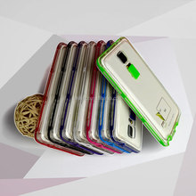 Rock Light Tube Series Bumper Case with Clear Cover for Samsung Note4, N4, N9100 cases