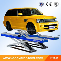 Pneumatic release in-ground auto repair equipment