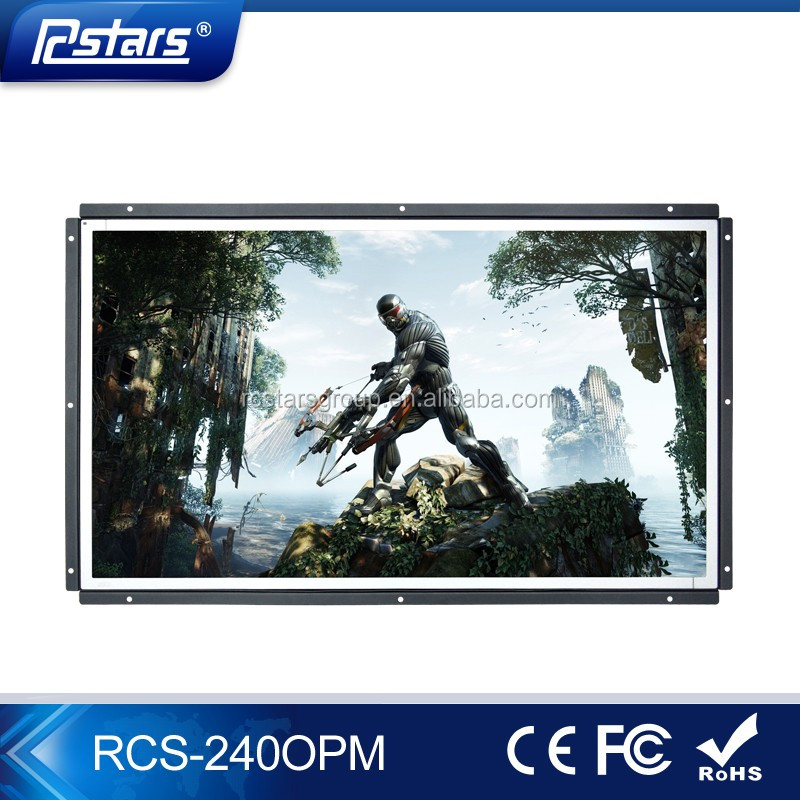 24 Inch Open Frame Commercial LCD display with 300cd/m High Brightness