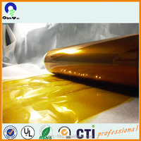 fluorescent soft PVC film material gold for garments raincoat