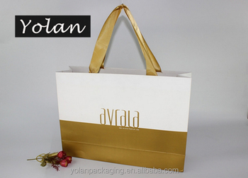 Cheap White Paper Bags With Handles White Card Paper Bags manufacture