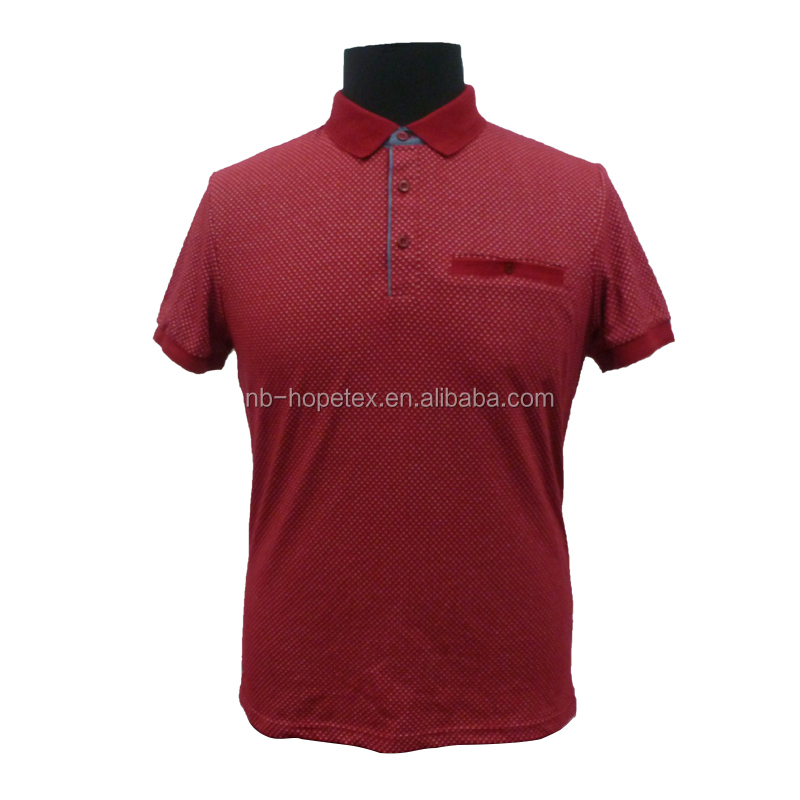 men's polo t shirt all over print red colour casual and office wear