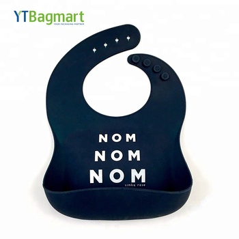 YTBagmart FDA Approved 100% Food Grade Waterproof  Silicone Baby Feeding Bib