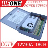 350w power supply for CCTV camera 18 Way portable power DistributioBox,