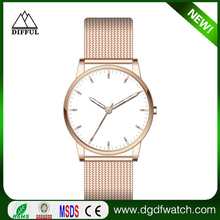 top 10 minimalist wrist watch brands waterproof 24k gold plating quartz watch
