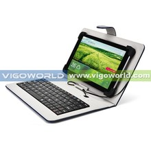 Universal Micro-USB Keyboard PU Leather Case Stand Cover for 10 inch tablet case