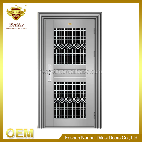 New design fashion low price steel safety door system JH111
