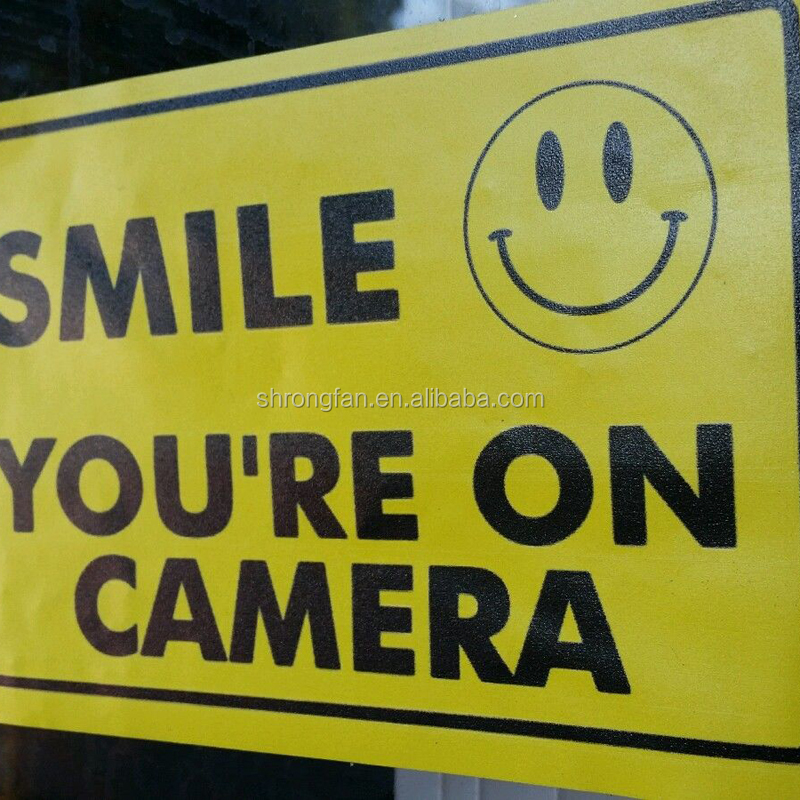 Smile You're On Video Security Cameras Warning Yard Reflective Signs And Advertising Sticker Signs