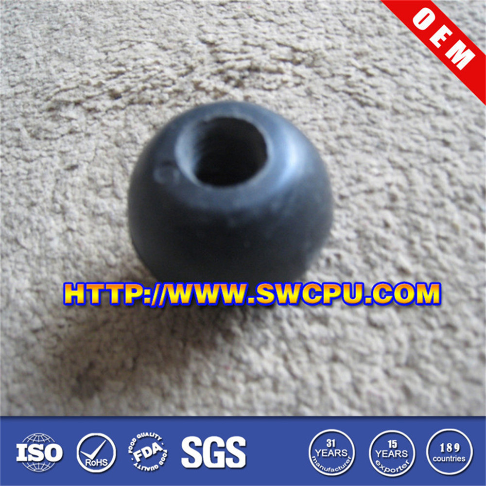 Rubber suction ball with hole