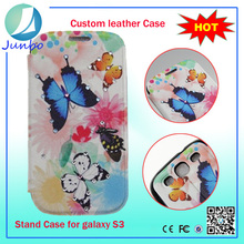 Wholesale custom wallet leather flip case for samsung galaxy mini s5570