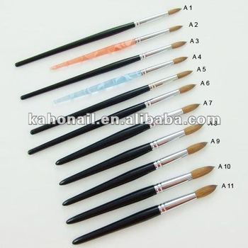 Yiwu suppliers to provide all kinds nail art,cosmetics acrylic brush acrylic clear coat