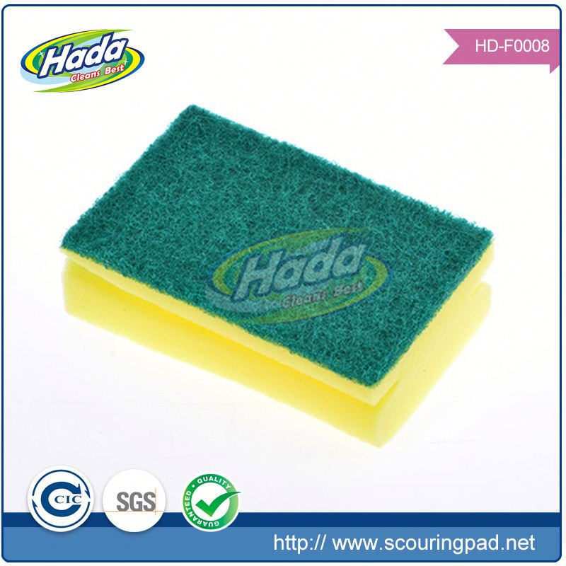 Strong cleaning abrasive scouring pads sponge for washing dishes