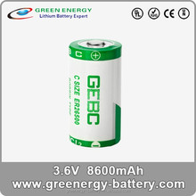 primary battery 8600mah er26500 3.6v c size lithium battery