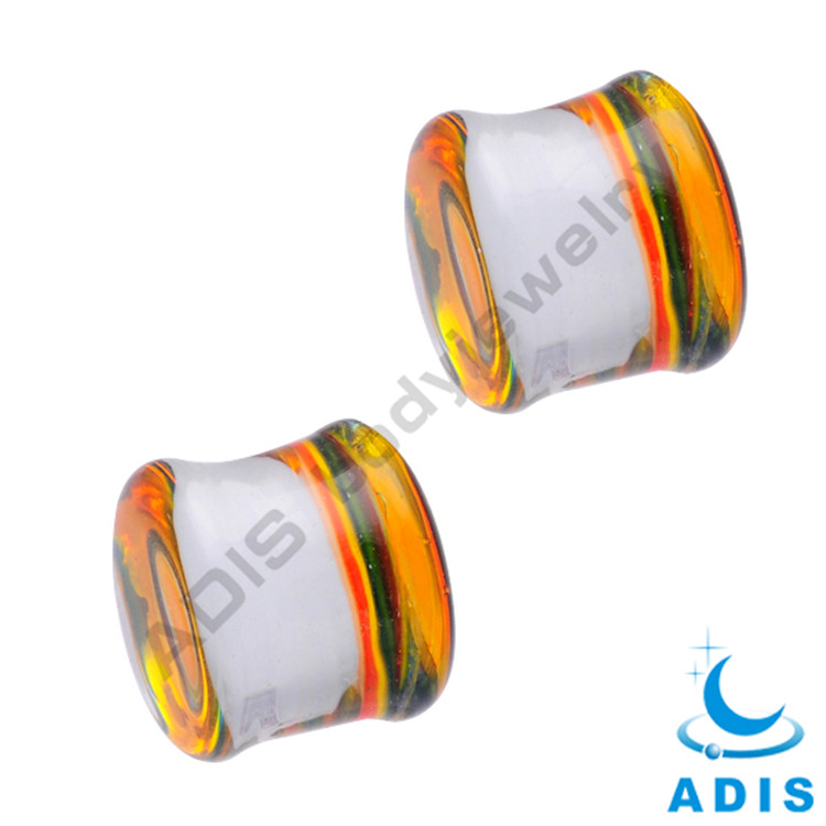 Glass Colorful Stone Ear Plug Beads For Jewelry Making