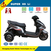 Super X6,adult cheap new electric tricycle with lithium battery