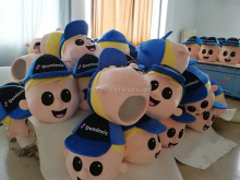2017 custom make mascot costume domino's pizza mascot heads