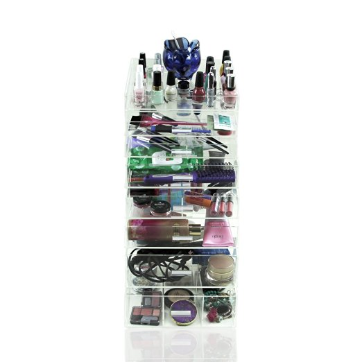 Acrylic Makeup Organizer 7 Drawers Cosmetic Beauty Storage Make Up Holder Vanity Display Box Bathroom Dresser Jewelry Collect