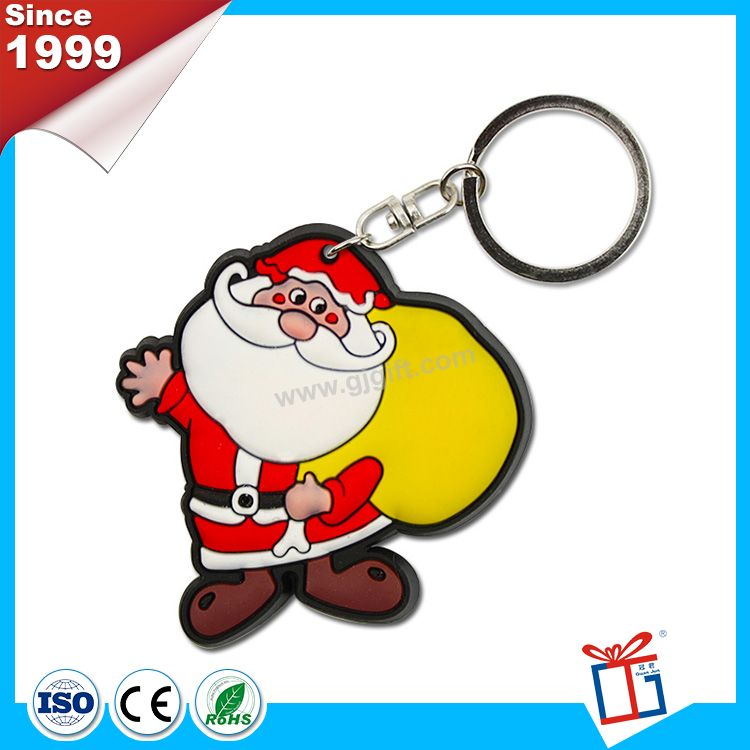 Colorful advertising 3d soft pvc keyrings