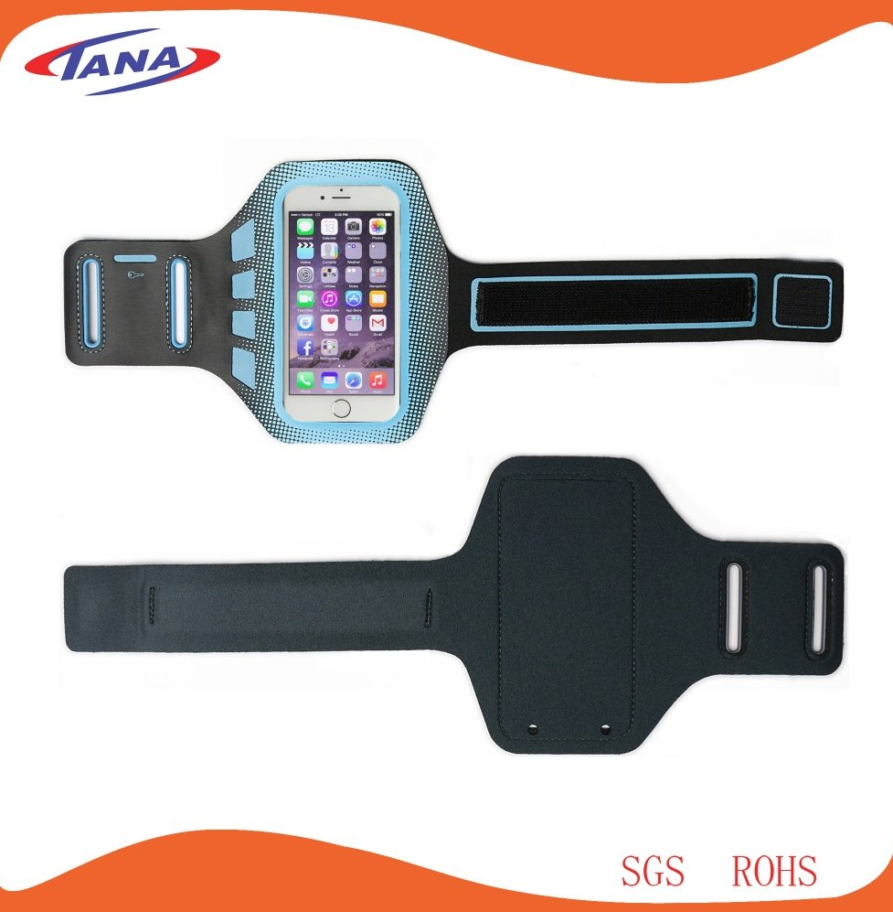 2015 new design promotiom gift waterproof soft neoprene armband for iphone 6